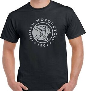 INDIAN MOTORCYCLE  T-SHIRT -  HEAVY COTTON MEN GRAPHIC TSHIRT USA