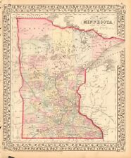 1874 ANTIQUE MAP - USA - MINNESOTA