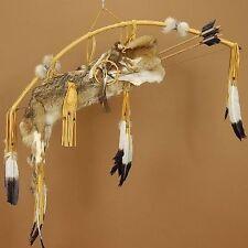 "Native American Coyote Fur Quiver 44"" Bow & Arrow Set - Navajo Curtis Bitsui"