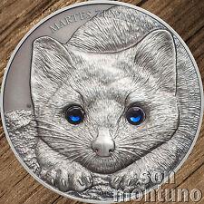 2017 Mongolia - SABLE Wildlife Protection 1oz Antique Finish Silver Coin BOX+COA