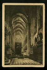 Church postcard Notre Dame Cathedral Paris France interior printed Vintage Yvon