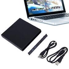 USB 2.0 DVD CD DVD-Rom IDE External Case Slim for Laptop Notebook NEW ~G