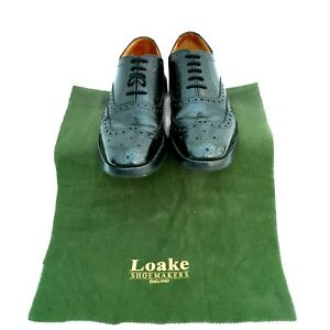 Loake Brogue Shoes Size 5 Mens Boys Black Leather Chester Country 024/F Last