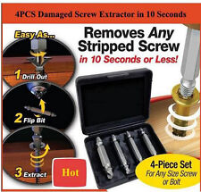 4PCs Speed Out Screw Extractor Drill Bits Tool Set Broken Bolt Remover BM