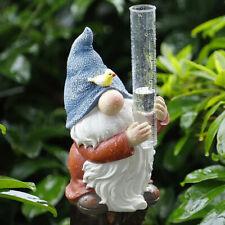Gnome Rain Gauges Garden Statue with a Plastic Rain Gauge Hand Painted Sculp Cm