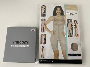 Macom Medical Post Surgery Bra And Girdle Set (Clay)