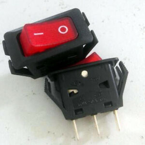 1pcs Red Light Heavy Duty 120V ON-OFF ROCKER SWITCH,R13C