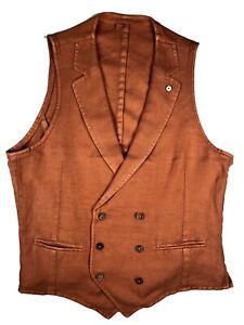 LBM 1911 Vest Medium/50 Orange Linen/Cotton