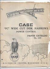 Original 12-1947 Case PC Wide Cut Disk Harrows Power Control Parts Catalog # 465