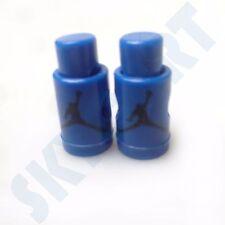 1 Pair New Jordan 6 Sport Blue with Black Jumpman Replacement lace locks blue