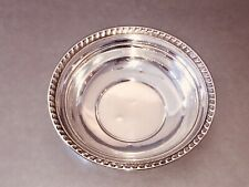 Sterling Silver Vintage Candy Bowl, 5 3/4 Inch, Pretty With Wear