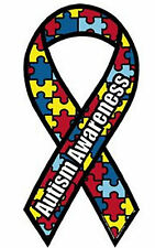 Autism Awareness Ribbon Puzzle Piece Car Magnet-NEW-More Autism items in Store