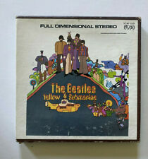 THE BEALTES Yellow Submarine Stereo 4 Track Reel to Reel Tape Vintage