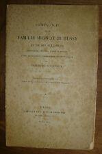COURTAUX (Théodore). - Généalogie de la famille Mignot de Bussy/ Lyonnais/Forez