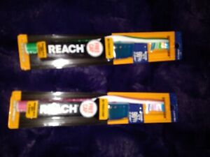 Reach Ultraclean Medium Toothbrush with FREE Toothbrush Cap (Colors) Lot of 2