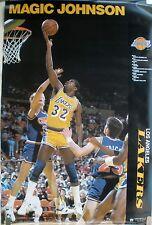 VERY RARE MAGIC JOHNSON LAKERS 1988 VINTAGE NBA  POSTER