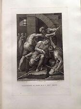 F. ROSASPINA CORONAZIONE DI SPINE NOSTRO SIGNORE GESU' CRISTO acquaforte 1830