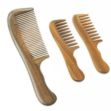 Wooden Wide Fine Tooth Comb Natural Sandalwood Handmade Massage Beauty Hair Care