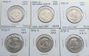 1979 & 1980 P, D & S Susan B. Anthony dollar coin(s) Uncirculated