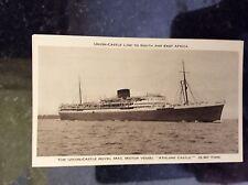 a2a postcard unused athlone castle royal mail motor vessel