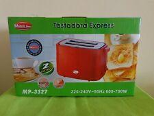 Tostadora color rojo rápido eléctrico express 2 TOSTADAS DE PAN 6 AJUSTES 700w