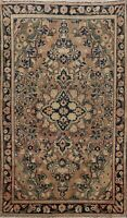 Antique Hand-knotted Traditional Floral Area Rug Wool Oriental Foyer Carpet 4x7