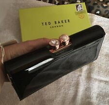 Boxed Ted Baker Black Patent Leather Matinee Purse - New with Tags