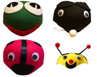 2x Teeangers Kids Boys Girls Animal Hat Cap Party Costume Lady Bug/Frog/Bee/Mous