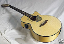 Luna Buttterfly Inlaid Koa Awesome looks Great Sound Beautiful Quilt Spruce Top
