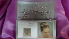Modern Romance Wedding Bridal Convertible Tiara Necklace Silver w/ Rhinestones