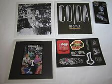 Led Zeppelin Coda/ Presence Promo Press Pack 3 Lithographs Stickers And Buttons