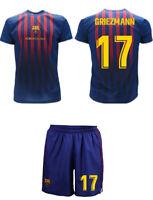 Completo Griezmann 2019 Barcelona Maglia Ufficiale Barcellona 17 + pantaloncini