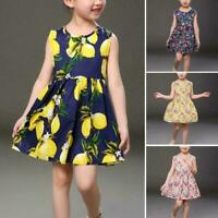 Girls Summer Fashion Thin Dress Sleeveless Floral Skirt Dress Kids Hot D0K9