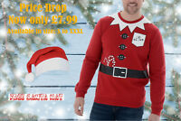 Mens Threadbare Novelty Christmas Jumper Festive Sweatshirt Santa Claus S-XXXL