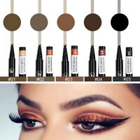 Fashion Waterproof Microblading Eyebrow Tattoo Pen Tip Fork Sketch Makeup Ink