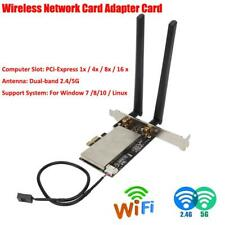 Mini PCI-E to PCI-E Bluetooth Wifi Dual-band Wireless Network Card Adapter Card