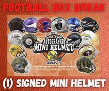 2021 GOLD RUSH AUTOGRAPHED FOOTBALL SIGNED MINI HELMET LIVE BOX BREAK #4055