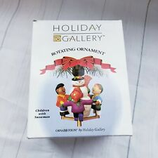 Holiday Gallery Rotating ornament Children With Snowman Christmas frosty #t7