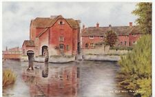 Gloucestershire; The Old Mill, Tewkesbury PPC, Unposted Salmon, Signed VA Wright
