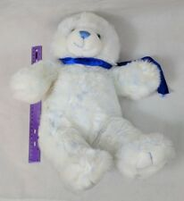 "Build A Bear Workshop White w/ Blue Frosted Fur Bear Plush 15"" Stuffed Animal"
