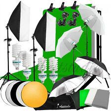 Photography 4 Backdrops +Stand Set Photo Studio Softbox Lighting Video Light Kit