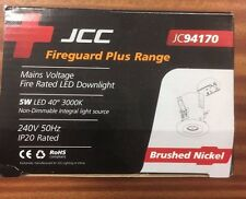 JCC JC94170 BRUSHED NICKEL DOWNLIGHT with WARM WHITE 5W LED IP20 NON DIMMABLE