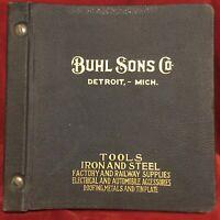 1929 Buhl Sons Co. Detroit, MI Hardbound Hardware, Tool, Iron & Steel Catalog