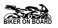 2 Aufkleber Biker on Board sticker 17 Cm OEM JDM Decal schwarz