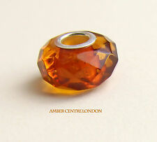 Amber Trolls Baltic Amber & 925 Silver Faceted Charm-CHA74 RRP£40!!!