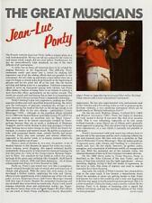 Jean-Luc Ponty Encyclopedia article