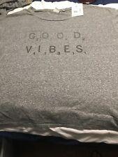 "JUNK FOOD Women's Scrabble 'Good Vibes' Game Night Grey T Shirt NWT Xl 24x24"""