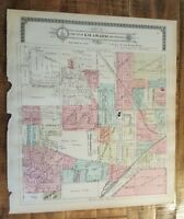 Antique MAP-PART 6 OF THE CITY OF KALAMAZOO & ENVIRONS, Michigan/Ogle & Co. 1910