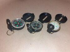 3 x Vintage TC Japan Engineer Lensatic Compass`s