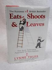 SIGNED Lynne Truss EATS, SHOOTS & LEAVES 2004 Gotham Books, NY 1stEd HC/DJ